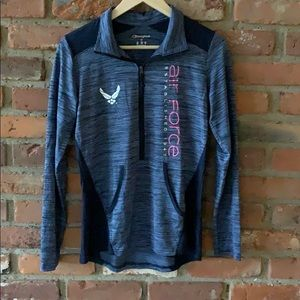 Air Force work out quarter zip